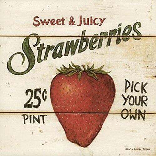 david-carter-brown-sweet-and-juicy-strawberries-poster-impresion-artistica-30-x-30cm
