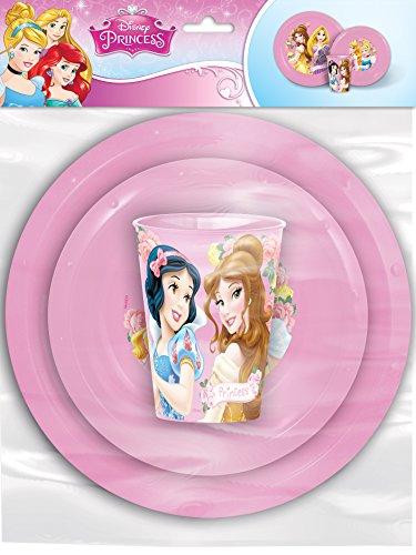 Set aus kunststoff value 3-zimmer-Princess Tea Party (1/12) (Princess Party Teller Und Tassen)