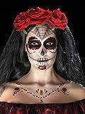 Smiffy's 41570 - Giorno dei Trasferimenti Kit Morto Viso Tatuaggio di Rosso & Nero Facepaints Crayon & Applicatori, Taglia Unica