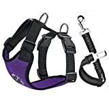 Best Dog Harnesses - SlowTon Dog Car Harness Seatbelt Set, Pet Vest Review