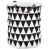 G4 TECH® Klappbare Ramie-Baumwoll-Stoff für Tasche Kinder Spielzeug Lagerung Wäschekorb (E)