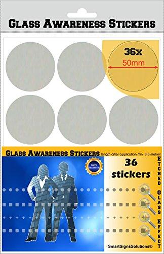 Compte du Verre Stickers 50 mm Cercles Pois gravé Effet givré Film Patio Portes magasins Bureau Les espaces publics