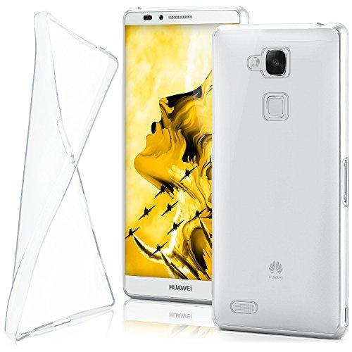 moex Huawei Mate 7 | Hülle Silikon Transparent Klar Clear Back-Cover TPU Schutzhülle Dünn Handyhülle für Huawei Ascend Mate 7 Case Ultra-Slim Silikonhülle Rückseite