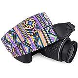 Wolven Pattern Canvas Camera Neck Shoulder Strap Belt Compatible for All DSLR/SLR/Men/Women etc
