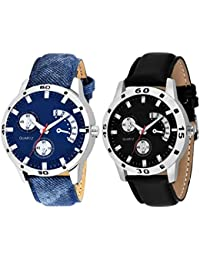 Scarter Combo Of 2 Analog Watch For Boys And Mens- S-206-207