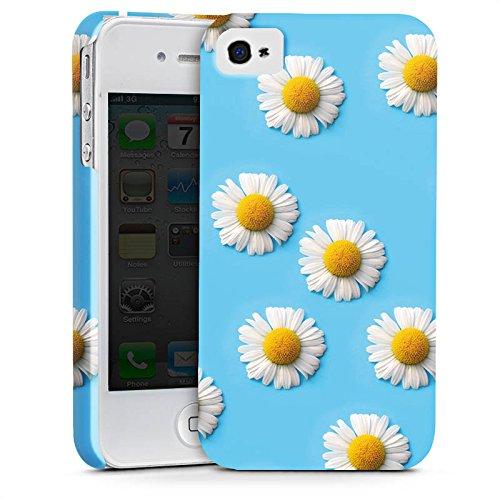 Apple iPhone X Silikon Hülle Case Schutzhülle Gänseblümchen Blumen Blüten Premium Case glänzend
