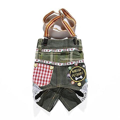 Uni Best Pet Dog Jean Lace Suspender Trousers Skirt Overalls Dresses Clothes Vest Hoodies Coat Puppy Costumes Outfit