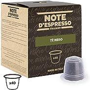 Note d'Espresso Black Tea Capsules exclusively Nespresso* Compatible 2g x 40 Capsules