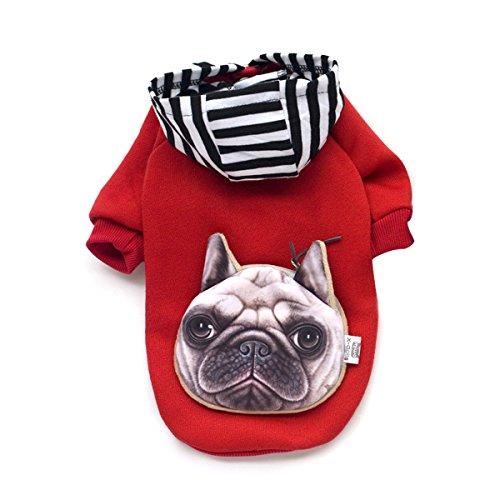 PETCUTE Hund Winter Warm Mit Kapuze Kleider Haustier Kostüm Anzug mit Cap Weihnachten Mantel Bekleidung für kleine mittlere große (Die Halloween Begannen)