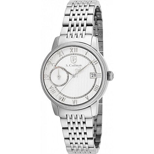 S Coifman SC0336 Ladies Silver Steel Bracelet Watch