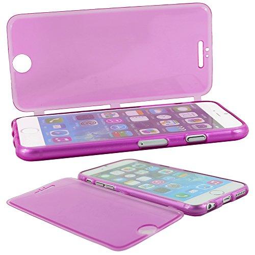"""ebestStar - pour Apple iPhone 6S 6 Plus écran 5,5"""" - Lot x3 Housse Etui Coque Silicone Gel Portefeuille + Mini Stylet tactile + 3 Films protection écran, Couleur Transparent, Violet, Rose [Dimensions  Transparent, Violet, Rose"""