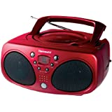 Tamashi CD 100 R Radio CD / mp3 Tuner analogique AM/FM Stéréo Rouge
