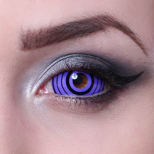 Kontaktlinsen Kostüm Hatake Kakashi - MATLENS - Eye love Colossus Sclera Kontaktlinsen Crazy Fun Motiv Halloween lila violet 2 Linsen 1 Kontaktlinsenbehälter 1 Pflegemittel 50ml