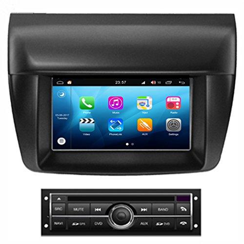 Roverone Quod Core Android Système 7 Pouces lecteur DVD de voiture pour Mitsubishi Triton L200 Pajero Sport avec autoradio Navigation GPS Radio stéréo Bluetooth SD USB Miroir Link écran tactile