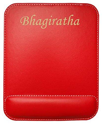Preisvergleich Produktbild Kundenspezifischer gravierter Mauspad aus Kunstleder mit Namen Bhagiratha (Vorname / Zuname / Spitzname)