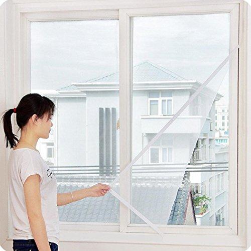 squarex Innen Insekten Fliegengitter Vorhang Mesh Bug Moskitonetzen Tür Fenster, weiß, Size: 150X200cm (Vinyl-mesh)
