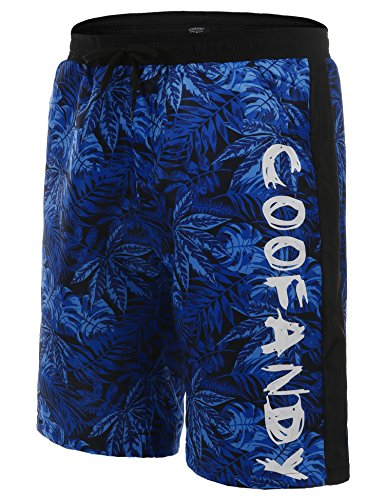 COOFANDY Herren Shorts Sommer Freizeit Hose Urlaub Hawaii Badeshorts Strandmode