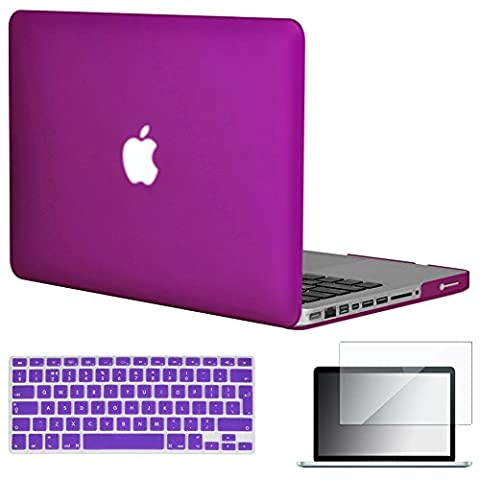 Topideal 3in 1Matte Hard Shell Hülle Case Cover 15Zoll MacBook Pro 39,1cm (Modell: A1286) + Tastatur Cover +