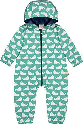 loud + proud Unisex Baby Wasserabweisender Overall Aus Bio Baumwolle, GOTS Zertifiziert Schneeanzug, Grün (Jade Jad), 80 (Herstellergröße: 74/80)