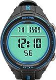 Cressi Sub S.p.A. Goa Ordinateur de Plongée et Horloge Mixte Adulte, Noir/Bleu, Uni