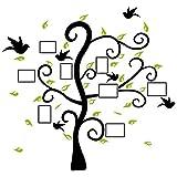Wandtattoo Wandbild für Wohnzimmer o. Schlafzimmer. Motiv mit Bilderrahmen am Baum. Stilvoll für Fotos der Familie oder Freunde als Fotorahmen. Wandsticker für Erwachsene. Wandaufkleber zum Gestalten einer individuellen Wand