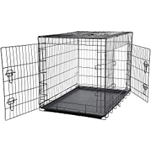 Bunty Metal Dog Cage Crate Bed Portable Pet Puppy Training Travel Carrier Basket - Medium