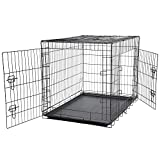 Bunty Metal Dog Cage Crate Bed Portable Pet...