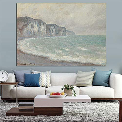 Kunst Bild HD Print Leinwand Wandkunst Claude Monet Seine Replik in Landschaft Ölgemälde Poster Bild für Wohnzimmer (Kein Rahmen) A4 50x70 CM