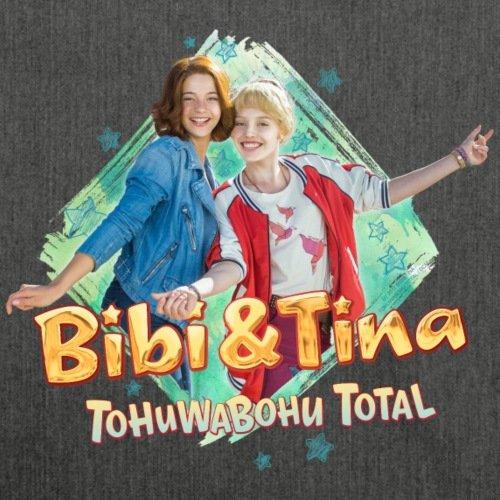 Bibi Und TinaTohuwabohu Total Freundinnen Schultertasche aus Recycling-Material von Spreadshirt® Schwarz Meliert