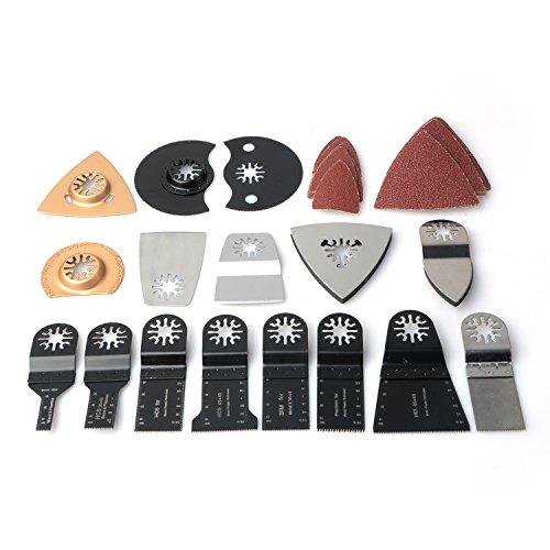 doolland 66PCS Creative oszillierendes Multi Tool Sägeblatt Zubehör für Fein Power Werkzeug Metall schneiden, edelstahl, Kit 2, 5 cm