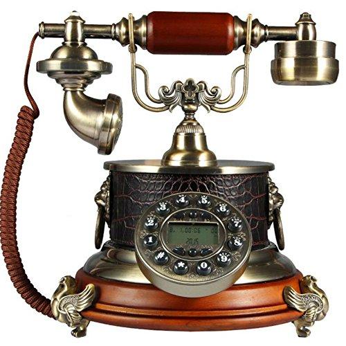 LHF Antikes Telefon Holz Fest Telefon Antik Telefon Retro Telefon Familie (599 Holz)