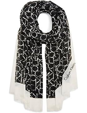 Calvin Klein Jeans Damen Trilby Ck Allover Long Scarf