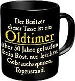 Witzige Geschenk-Tasse: Oldtimer 50 Kaffeebecher im Geschenkkarton