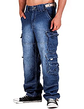 Jet Lag JetLag Hose Cargo Jeans light navy Style 007