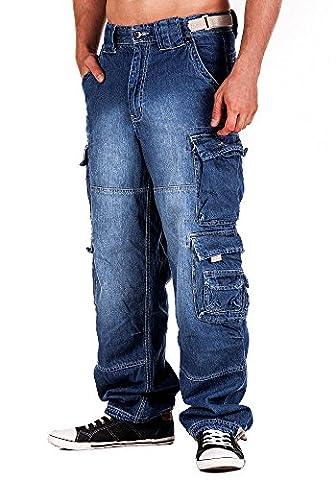 Jet Lag Hose Cargo Jeans light navy Style 007 XL/34