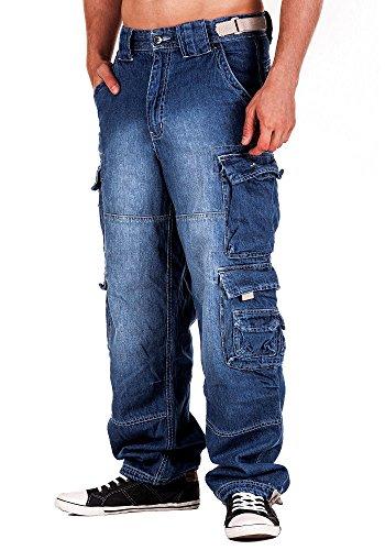 Jet Lag Hose Cargo Jeans light navy Style 007 5XL/34