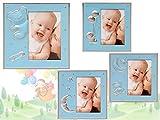 Marco infantil de aluminio color azul - Lote de 8 unidades