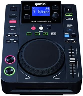 Gemini CDJ-300 - Reproductor de CD (USB, CD, MP3), color negro