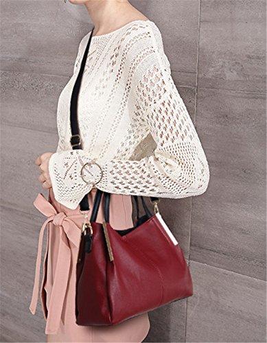 Xinmaoyuan Borse donna Ladies Borsetta tracolla trasversale obliqua Big Bag Rosso
