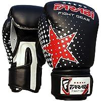 Niños guantes de boxeo, MMA, Muay Thai Junior punch bag Mitts negro 6oz por Farabi