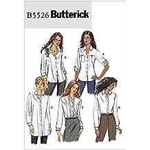 Butterick B5526 Patrón de costura para blusa de mujer 3bac39da0a854
