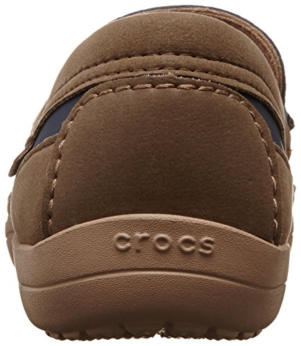 Crocs Wrap Colorlite Loafe, Mocassini Uomo Blu (Navy/Tumbleweed)