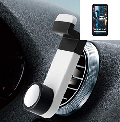 K-S-Trade® Smartphone Halterung Autohalterung Für -Google Pixel 2 XL- Lüftungshalterung Handy Halter Lüftungsgitter Smartphonehalterung Weiß