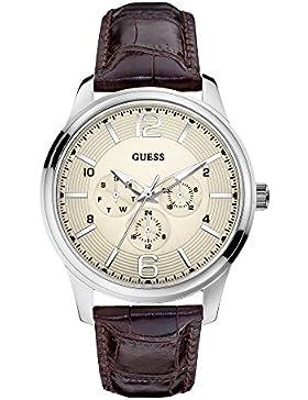 Guess Herren-Armbanduhr XL Chronograph Quarz Leder W0294G1
