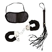 DOMINATRIX SETS (handcuffs blindfold whip)