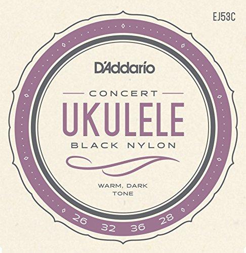 Daddario EJ53C Hawaii/Konzert Ukulele Saiten Satz Nylon schwarz