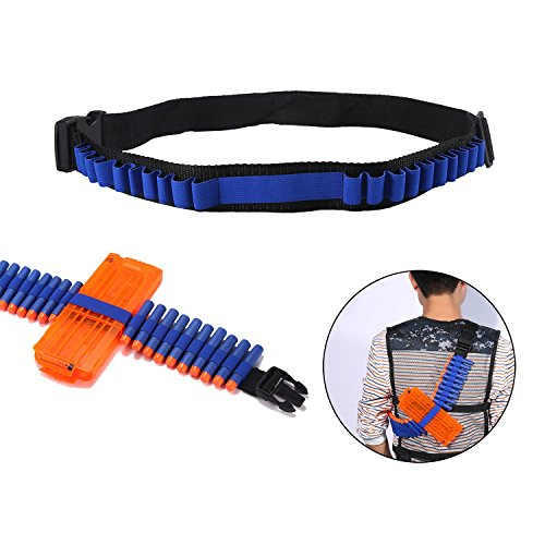 Aolvo Bandolier Spielzeugpistole Soft Bullets Gürtel Schultergurt Clip Charger Darts Munition Lagerung für Nerf N-Streik Elite Series (Nerf Im Streik)
