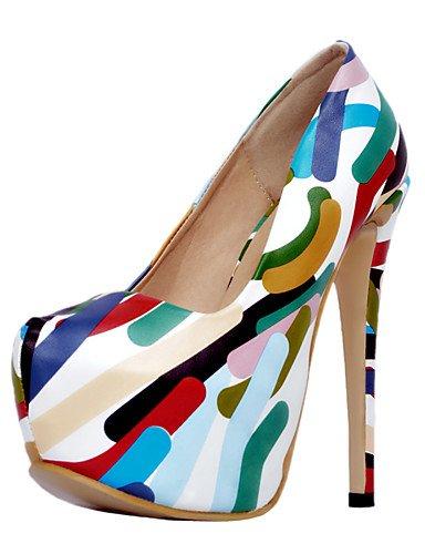 WSS 2016 Chaussures Femme-Mariage / Bureau & Travail / Soirée & Evénement-Multi-couleur-Talon Aiguille-Talons-Chaussures à Talons-Polyuréthane multi color-us8 / eu39 / uk6 / cn39