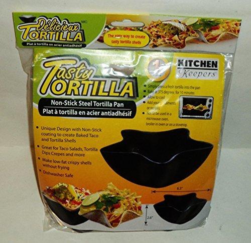 Kitchen Keepers Tasty Non-Stick Steel Tortilla Pan by Kitchen Keepers Tortilla Keeper