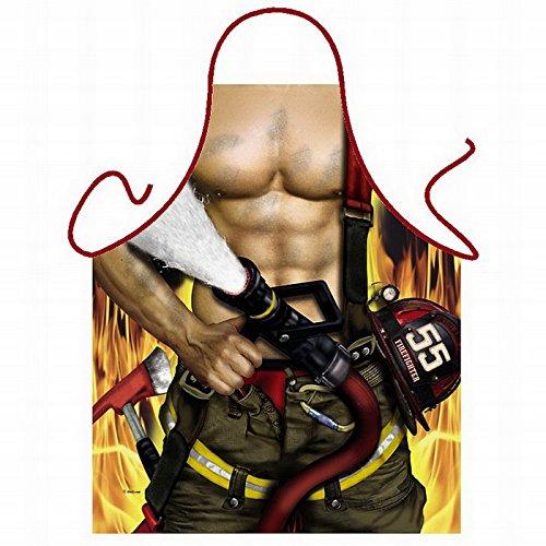 Pornoschürze Feuerwehrmann prima zum Grillen mit (Muskulös Kostüme)
